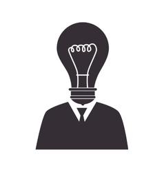 bulb man idea suit tie vector image