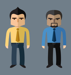 business people flat design vector image