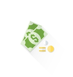 color cash money dollar sign icon vector image