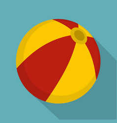 Colorful children ball icon flat style vector