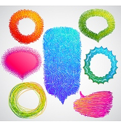 colorful hand drawn speech vector image vector image