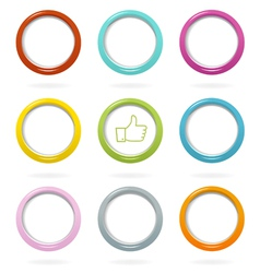 Colorful web bubbles set vector image vector image
