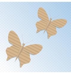 Handmade cardboard butterfly vector