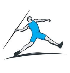 javelin thrower vector image vector image