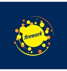 logo for fireworks vector image vector image
