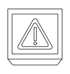 Monochrome contour with frame with triangle vector