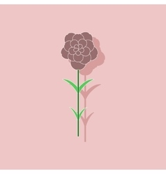 Paper sticker on stylish background plant dianthus vector