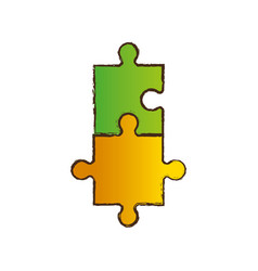 Puzzle jigsaw collaboration image vector