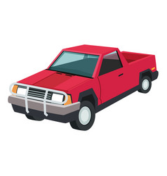 Red pickup icon vector