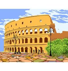 roman colosseum vector image vector image
