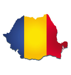 romania flag amp map vector image