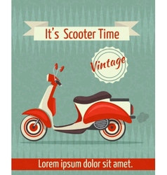 Scooter retro poster vector image