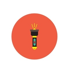 Stylish icon in circle handle electric flashlight vector