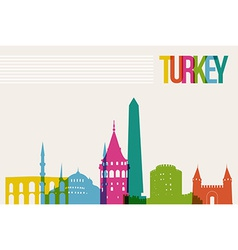 Travel Turkey destination landmarks skyline vector image vector image