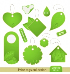 vector set tags eco vector image