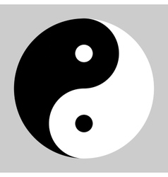 Yin yang symbol in black and white vector