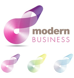 Modern Business Icon vector image