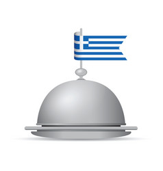 greek flag dinner platter vector image