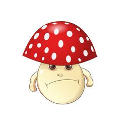 evil mushroom vector image