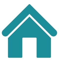 Home flat soft blue color icon vector