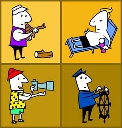 Set work profession people vector