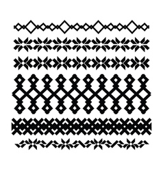 Borders and lines for design geometric elements vector