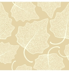 Poplar leaf skeleton pattern vector