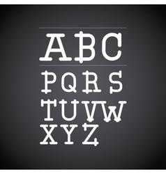 alphabet written on chalk board design vector image