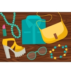 Fashion accessories composition vector