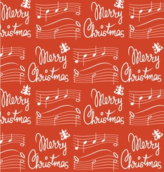 Merry Christmas song pattern vector image
