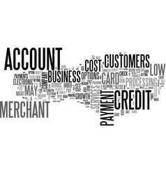 A low cost merchant account text word cloud vector
