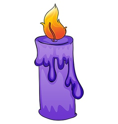 A violet candle vector