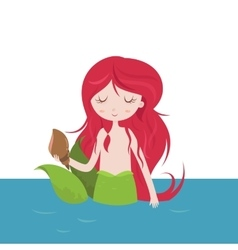 Beautiful Mermaid cartoon vector image