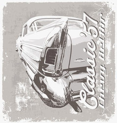 classic chevy 57 vector image vector image