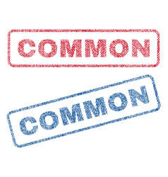 common textile stamps vector image