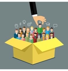 Concept of hiring or recruitment vector