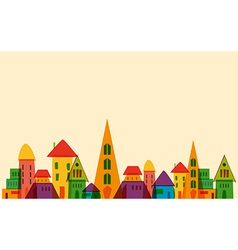 Cute little town vector image vector image