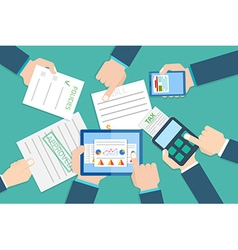 Financial research report Financial examiner vector image
