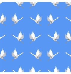 Grey geese seamless pattern vector