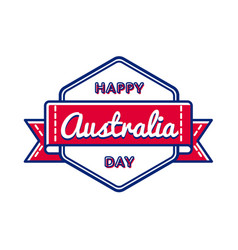 happy australia day greeting event emblem vector image vector image