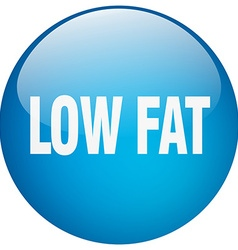 Low fat blue round gel isolated push button vector