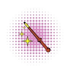 Magic wand icon comics style vector image vector image