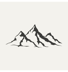 mountains Black and white style vector image vector image