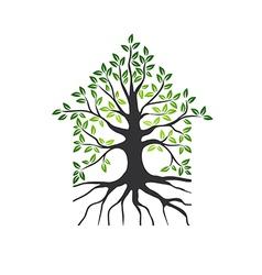 Natural Eco House Logo vector image vector image