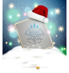 New Year and Christmas with a sign blank standing vector image