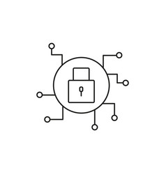 padlock secure connection icon vector image