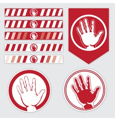 palm caution vector image