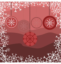 red snake with floral pattern with snow vector image vector image