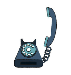 Rotary telephone icon image vector