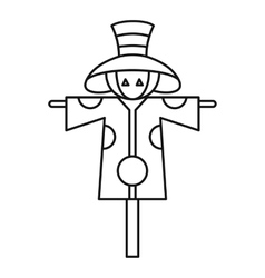 Scarecrow icon outline style vector